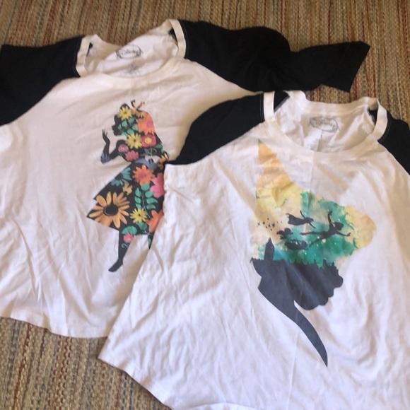 2 Plus Size Disney Raglan Shirts